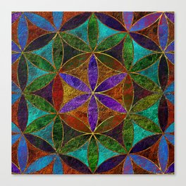 The Flower of Life (Sacred Geometry) 2 Canvas Print