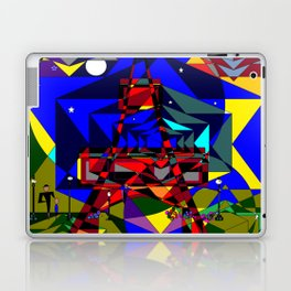 Abstract of Paris in the Spring with Stars Laptop & iPad Skin