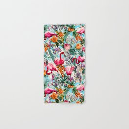 Floral and Flamingo VII pattern Hand & Bath Towel