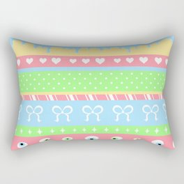 Creepy Cute Stripes Rectangular Pillow