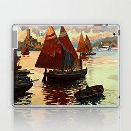 Lake Garda - Vintage Poster Laptop & iPad Skin