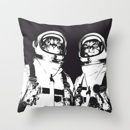 astronaut cats Throw Pillow