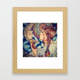 Kiss The Almighty Moon Framed Art Print