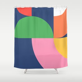 Abstract Geometric 16 Shower Curtain