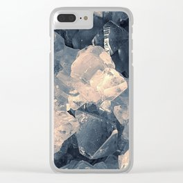 Crystal Blue Clear iPhone Case