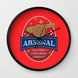North London Red Football Wall Clock