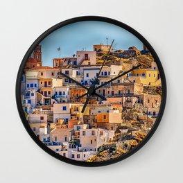 Beautiful Town - Karpathos Island, Greece Wall Clock