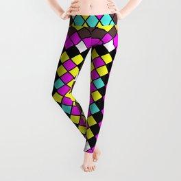 Mosaic X - Abstract, tiled, mosaic, geometric pattern Leggings