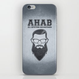 ALL HIPSTERS ARE BASTARDS - Funny (A.C.A.B) Parody iPhone Skin