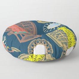 Rattan Cheetah Chairs + Mirrors Floor Pillow