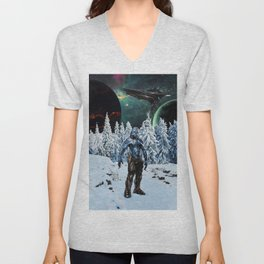 Visitor from Outer Space Unisex V-Neck