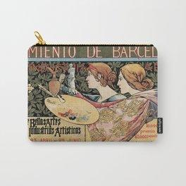 Vintage Art Nouveau expo Barcelona 1896 Carry-All Pouch