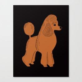 Apricot Poodle on Black Canvas Print