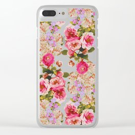 Floral Friends Clear iPhone Case