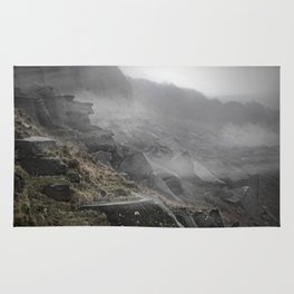 Hathersage, England Cliffs Rug