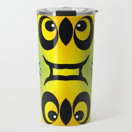 CVAn0044 Fussy Monster Smlies All Over Travel Mug
