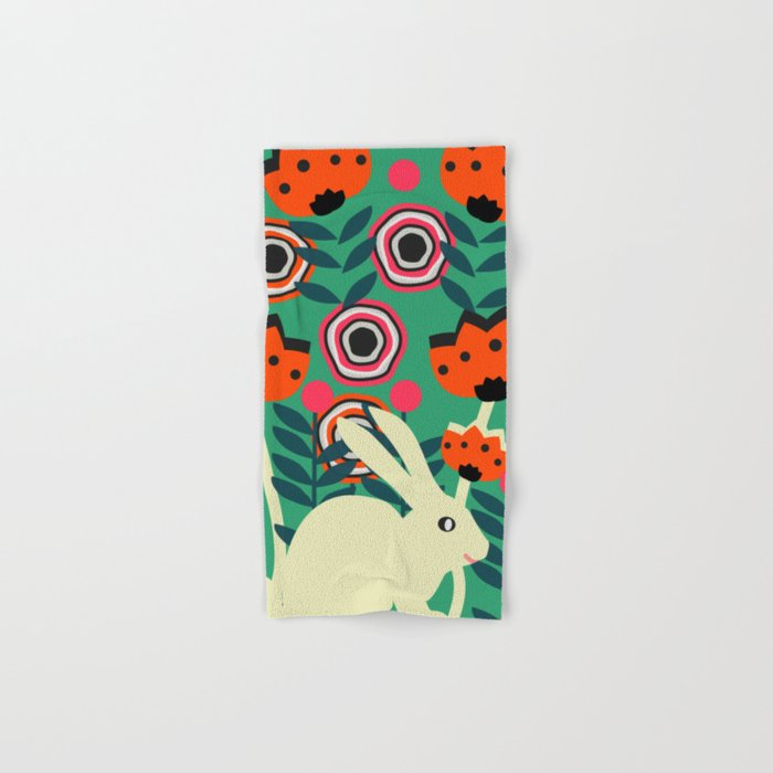 Little bunny in spring Hand & Bath Towel