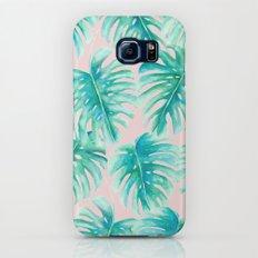Paradise Palms Blush Galaxy S8 Slim Case