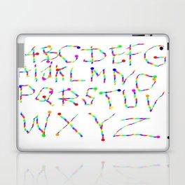 Lettres Arc en Ciel Laptop & iPad Skin