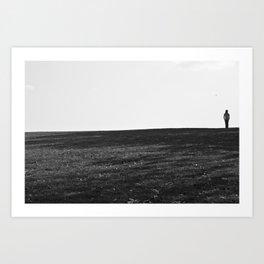 Alone. Art Print