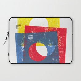 Basic in red, yellow and blue Laptop Sleeve