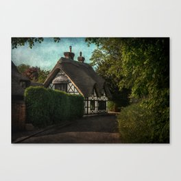 A Berkshire Half Timbered Cottage Canvas Print