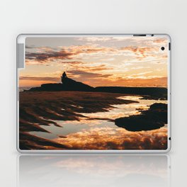 Reflective Water Landscape Cloudy Sky Sunlight After Rain Laptop & iPad Skin