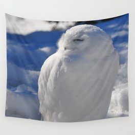 Snowy in the Snow by Teresa Thompson Wall Tapestry