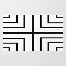 Square - Black and White Rug