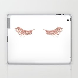 Pretty Lashes Rose Gold Glitter Pink Laptop & iPad Skin
