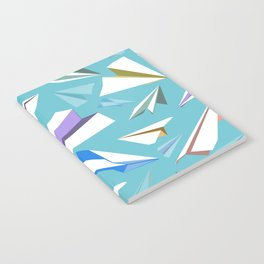 Aeroplanes - Paper Airplanes Pattern Notebook