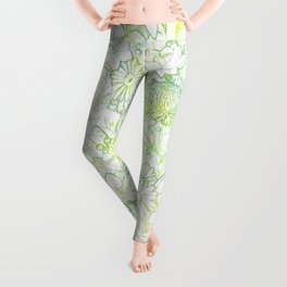 Fresh bright blooms Leggings