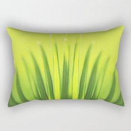 Palm Tree Sunlight Leaf Tropical Summer Green Yellow Hawaii Pattern Rectangular Pillow