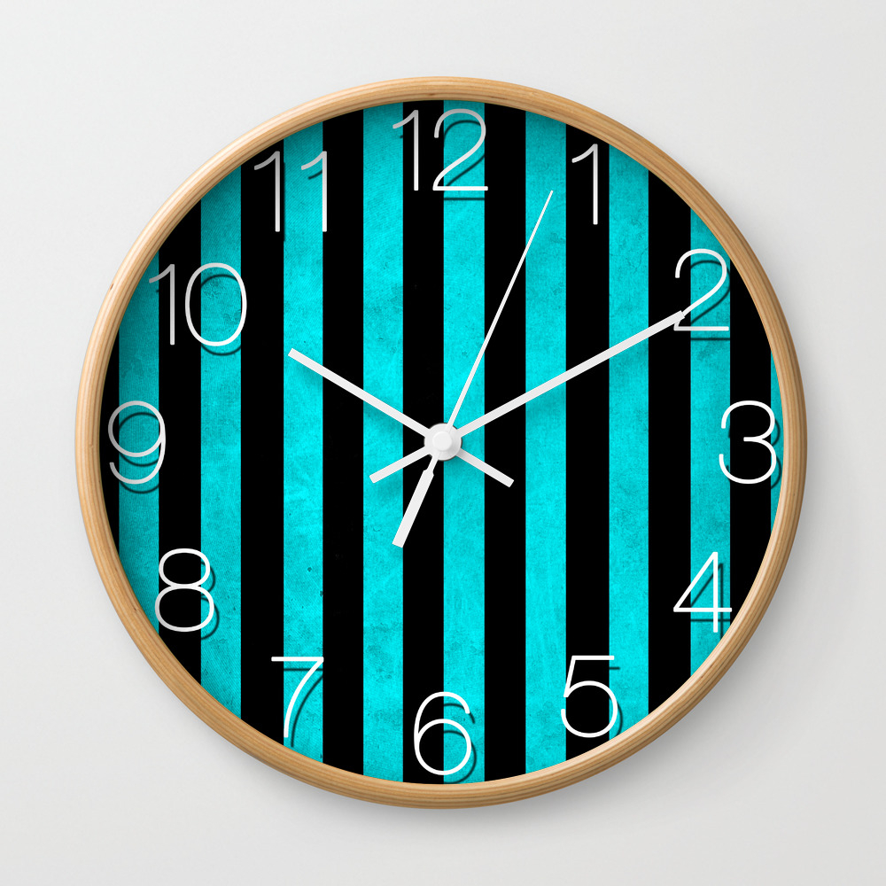 Stripes Collection: Thin Ice Wall Clock by Maiartrealm CLK8765507