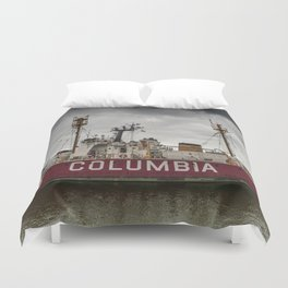 The Lightship Columbia Duvet Cover
