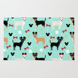 Chihuahua theme park lover dog breed pattern gifts Rug