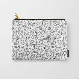 Doodle naked woman Carry-All Pouch