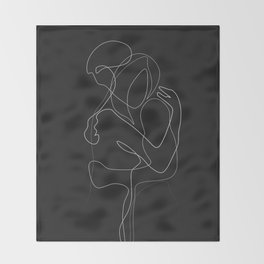 Lovers DarkVersion Throw Blanket