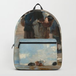 Setting Out to Fish Oil Painting by John Singer Sargent Backpack