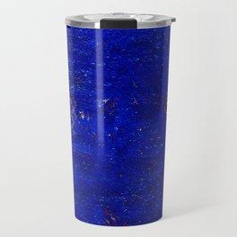 V11 Calm Blue Printed of Original Traditional Moroccan Carpet Travel Mug