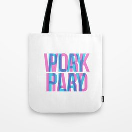 Work Hard - Play Play - Typography - Hipster Tote Bag