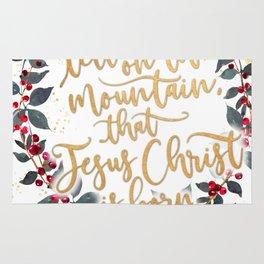 Go tell it on the mountain, wreath Rug