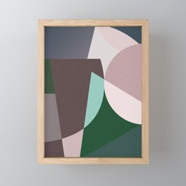 Abstract minimal Framed Mini Art Print