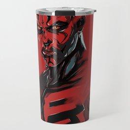 Darth Maul Sith digital art print. Travel Mug