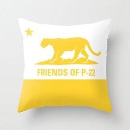 P-22 Yellow Throw Pillow
