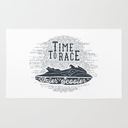 Time To Race. Water Scooter Rug