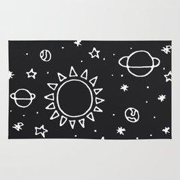 Planets Hand Drawn Rug