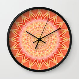 Mandala spiritual strength Wall Clock