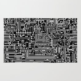 Circuit Board on Black Rug