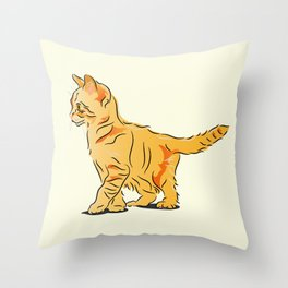 Tabby Kitten Throw Pillow
